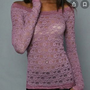Free People Intimately Scandalous Stretch Lace Top